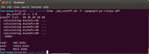 Snapshot of the usage of the pw_cutoff script.